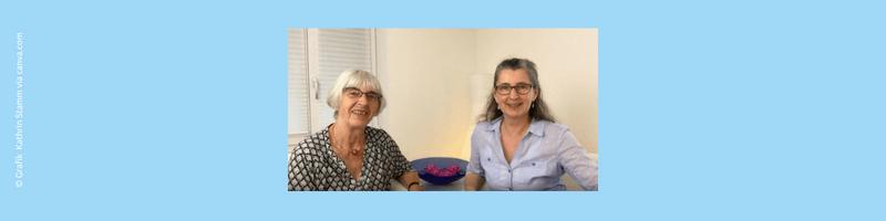 Foto und Grafik Kathrin Stamm via canva.com Kriegskinder - Interview mit meiner Mutter. Coaching Oase Heartify