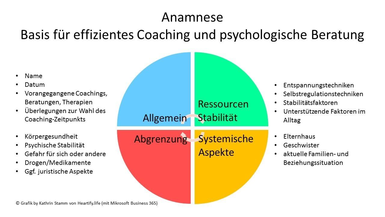Anamnese fuer Coaching und psychologische Beratung. Grafik by Kathrin Stamm