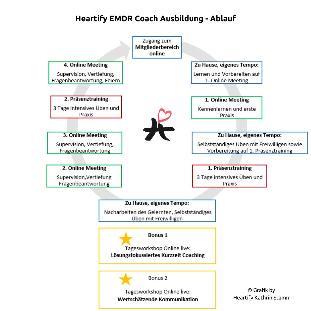 Grafik by Kathrin Stamm Heartify EMDR Ausbildung Ablauf